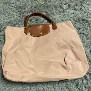 Light pink longchamp tote